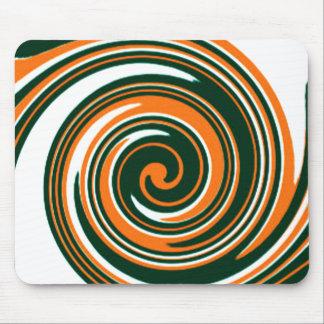 Orange Swirls Fun Mouse Pad