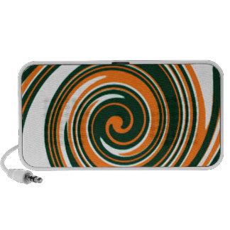 Orange Swirls Fun Speaker