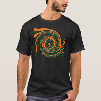 Orange Swirls Fun T-Shirt