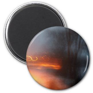 Orange Swirls Magnet