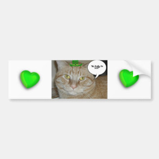 Orange Tabby Cat Car Bumper Sticker