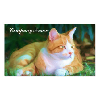 Orange Tabby Cat Business Cards