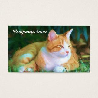 Orange Tabby Cat Business Cards