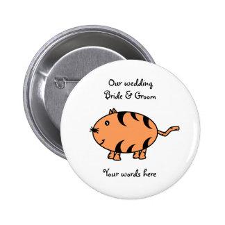 Orange tabby cat 2 inch round button