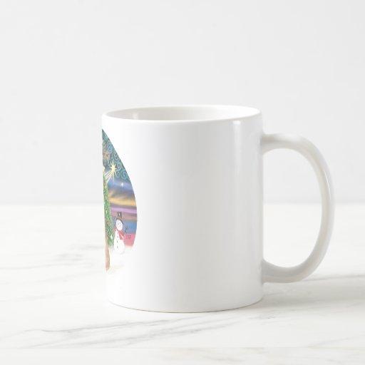 Orange Tabby Cat - Christmas Magic Classic White Coffee Mug