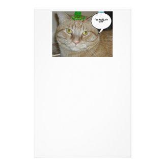 Orange Tabby Cat Custom Stationery