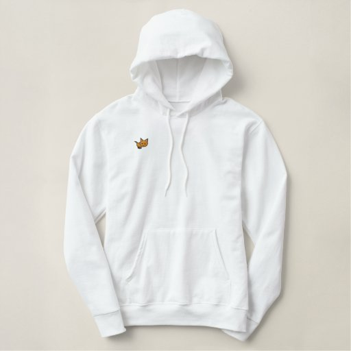 Orange Tabby Cat Embroidered Hoodie