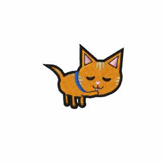 Orange Tabby Cat Embroidered Hooded Sweatshirt
