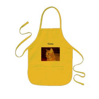 Orange Tabby Cat Face Profile Kids' Apron