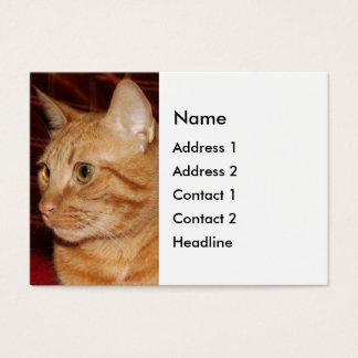 Orange Tabby Cat Face Profile Business Card