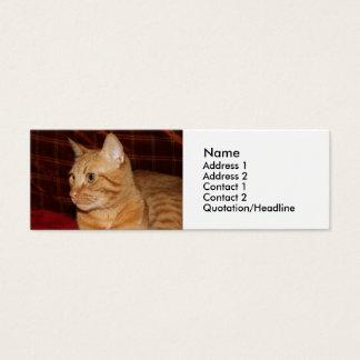 Orange Tabby Cat Face Profile Mini Business Card
