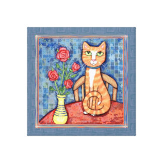 Orange Tabby Cat Gallery Wrapped Canvas Print