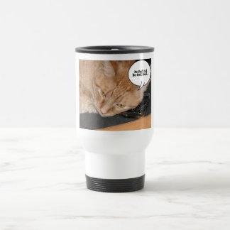Orange Tabby Cat Humor Cell Phone Coffee Mugs