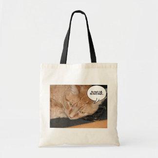 Orange Tabby Cat Humor/Cell Phone Tote Bag