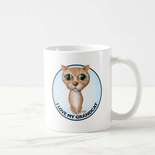 Orange Tabby Cat - I Love My Grandcat Coffee Mug