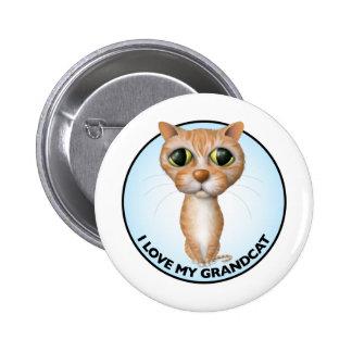 Orange Tabby Cat - I Love My Grandcat Pinback Button