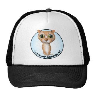 Orange Tabby Cat - I Love My Grandcat Trucker Hat