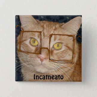 Orange Tabby Cat/Incognito Humor Button