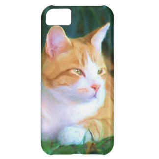 Orange tabby cat iPhone 5 Case-Mate phone case Cover For iPhone 5C