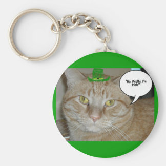 Orange Tabby Cat Keychain