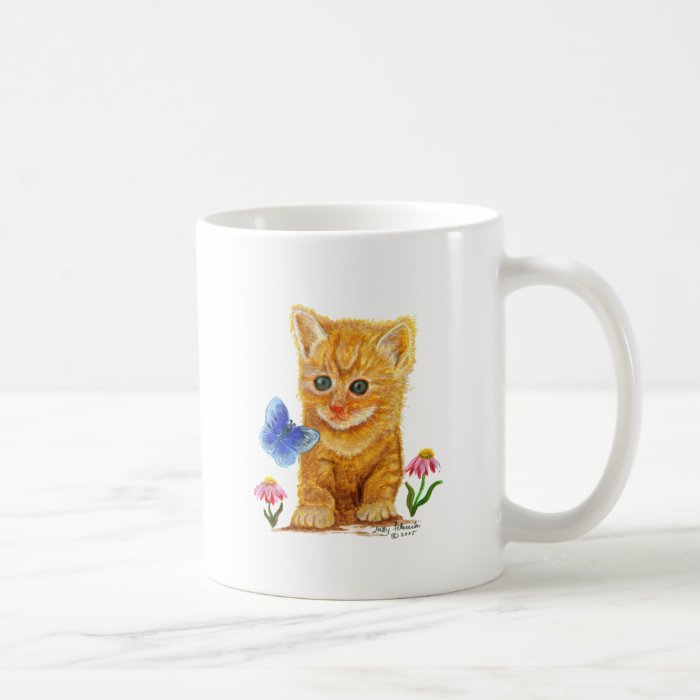 Orange Tabby Cat Kitten Coffee Mug