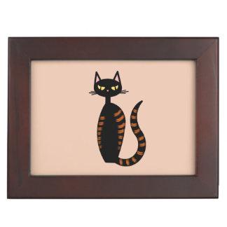 Orange Tabby Cat Memory Box