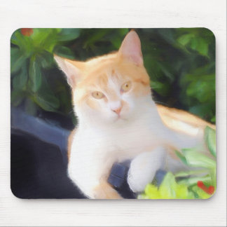 Orange Tabby Cat mousepad