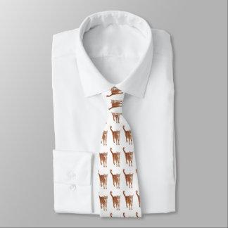 Orange Tabby Cat Neck Tie