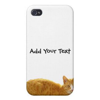 Orange Tabby Cat on Green Fence iPhone 4/4S Case