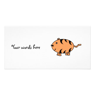 Orange tabby cat picture card