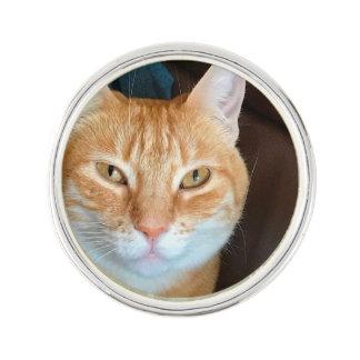 Orange tabby cat pin