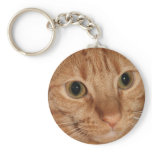 Orange Tabby Cat Profile Face Close up Keychain