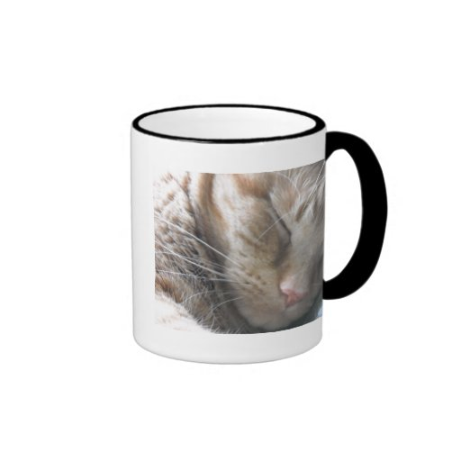 Orange Tabby Cat Ringer Mug