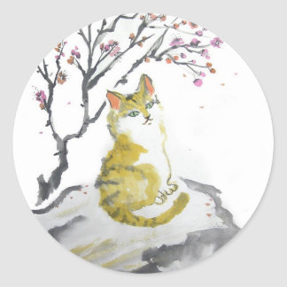 Orange Tabby Cat Stickers