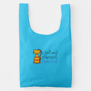 Blue Cat Therapist Bag