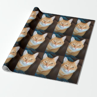 Orange tabby cat wrapping paper