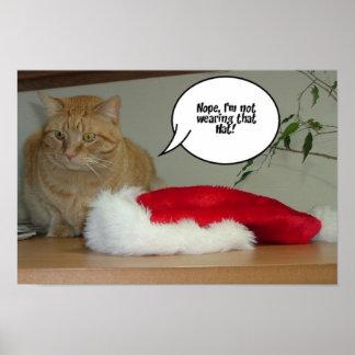 Orange Tabby Christmas Poster
