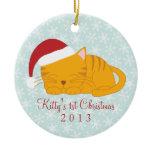 Orange Tabby Custom Christmas Ornaments