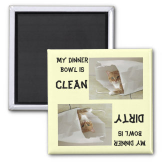 Orange Tabby Dishwasher Magnet Customize Color