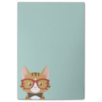 Orange Tabby Hipster Cat Kids Post-it® Notes