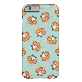 Orange Tabby Hipster Cat Pattern Barely There iPhone 6 Case