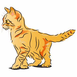 Orange Tabby Kitten Statuette