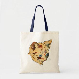 Orange Tabby Kitten with Blue Eyes Tote Bag