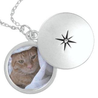 Orange Tabby Kitty Cat Pendant