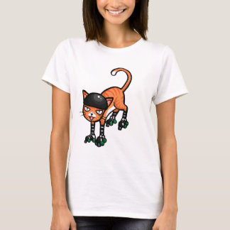 Orange tabby on rollerskates T-Shirt