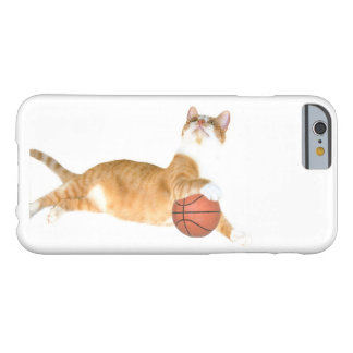 Orange tabby plays basketball barely there iPhone 6 case