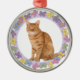 Orange Tabby Spring Ornament
