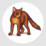 Orange Tabby Stickers