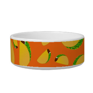 Orange tacos cat food bowls