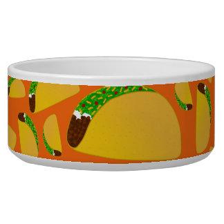 Orange tacos dog bowls
